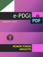 ePDGI registrasi ulang
