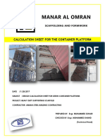 Calculation Sheet Cuplock- Container