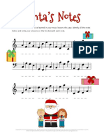 Christmas Music Worksheets Santa's Notes