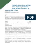 Equipos e Instalaciones en Las Empresas de Ganado Ovino. Higiene y Bienestar Animal.- Gestión Técnico Económica de Las Empresas Ovinas