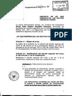 Proyecto de Ley- Despenalización de delitos contra el honor
