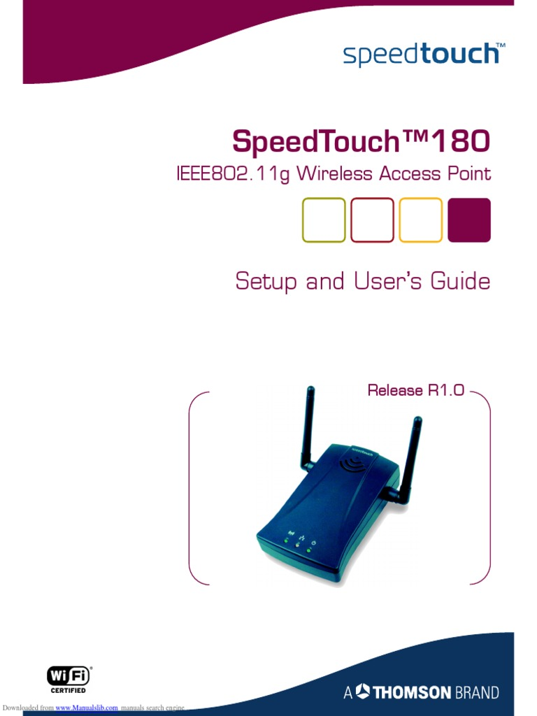 speedtouch_180 | Wireless Lan | Ip Address