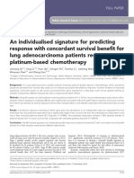 An Individualised Signature for Predicting Response With Concordant Survival Benefit for Lung Adenocarcinoma Patients Receiving