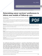 Determining Cancer Survivors' Preferences to Inform New Models of Follow Up Care