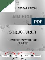 TOEFL Preparation Structure i