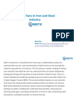 Process Fans in Iron and Steel Industry