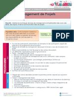 Management de Projets Novembre 2017