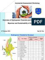 Overview of Hydropower Potential and Energy Sector in Myanmar