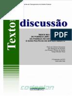 TD 6 as Dimensoes Da Pobreza No DF e Suas Politicas de Enfrentamento 2015