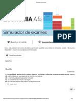 Simulador de Exames