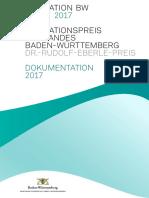2017 - Dokumentation des Innovationspreises des Landes Baden-Württemberg