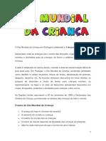 O Dia Mundial Da Criança Em Portugal é Celebrado A
