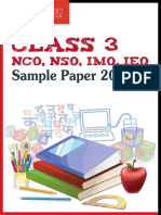 Class 3 Nco, Nso, Imo, Ieo Sample Papers 2014