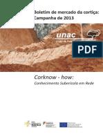 UNAC - Boletim de Mercado Da Cortiça - Campanha 2013