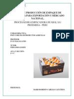 Costo de Produccion- Empaque de Mandarina Satsuma