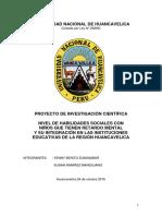 Proyecto de Investigacion Nivel de Habilidades Sociales de Niños Down