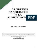 DADAMO PETER J - Grupos Sanguineos Y Alimentacion
