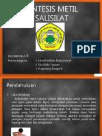 Sintesis Metil Salisilat a9