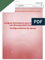Cuadernillo para la enseñanza de Lenguas Extranjeras a  estudiantes con discapacidad Auditiva