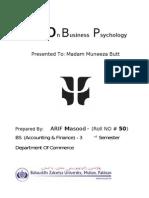 Notes on Basics of Business Psychology