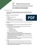 Warranty Inspection ProceduresFinal