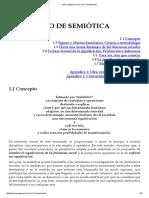 Concepto de Semiótica- J. Magariños de Morentín.