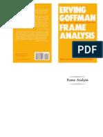 Erving Goffman - Frame Analysis