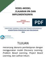 PPT 01 Model-model Pembelajaran