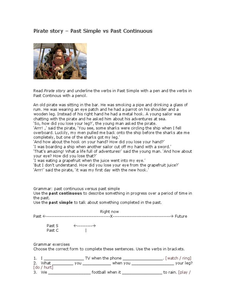 8 Pirate story – Past Simple vs Past Continuous pdf