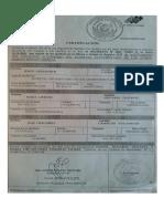 Padre Moises Certificado