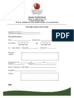Teacher Form