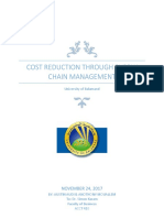 Cost Reduction Through Supply Chain Management