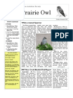 October-November 2007 Prairie Owl Newsletter Palouse Audubon Society