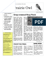January-February 2007 Prairie Owl Newsletter Palouse Audubon Society