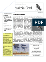 February-March 2009 Prairie Owl Newsletter Palouse Audubon Society