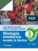 Biologia Moderna Volume 3 Amabis e Martho, livro do professor.