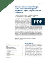 2011 Técnicas de Masokinesiterapia en Las Afecciones Del Aparato Locomotor, Reglas de Prescripción en Francia