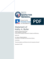 Kathy Buller Testimony 11-15-17  Inspector General, Peace Corps