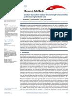 Temperature-Dependent Residual Shear Strength Characteristics of Smectite-bearing Landslide Soils