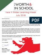 WLW Y9 Information Booklet 2018