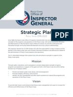 Peace Corps OIG Strategic Plan FY 2018 - 2020