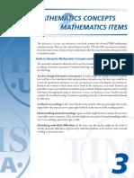 TIMSS4 Math ConceptsItems 1