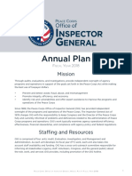 Peace Corps OIG Annual Plan 2018
