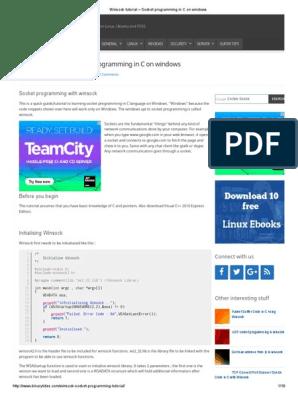 Winsock Tutorial – Socket Programming in C on Windows | Port