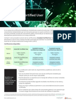 Brochure Autodesk Certified User