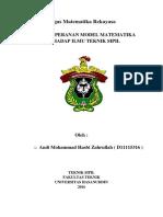 Makalah Matematika Rekayasa ( a. Mohammad Hasbi Zahrullah , D111 15 316 )