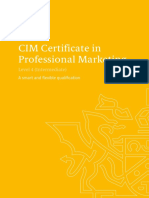Level 4 Certificate in Professional Marketing Qualifications