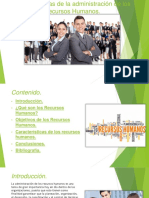 Características de la administración de los Recursos Humanos (Ronald Rodríguez).pptx