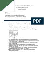 [Jawaban] Internal Selection Petrotech & Raise 2017
