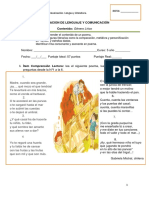 Evaluacion de Lenguaje y Comunicación Textos Poeticos Quinto a-b